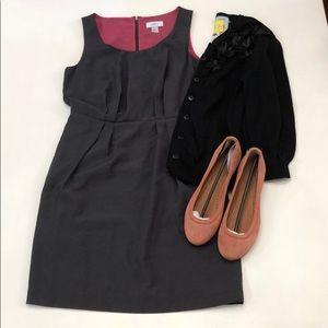 Ann Taylor Loft Grey zipper back dress